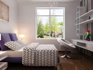 90平米都市小清新风格卧室装修效果图赏析