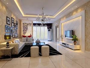 现代简约风格大户型客厅隔断装修效果图赏析