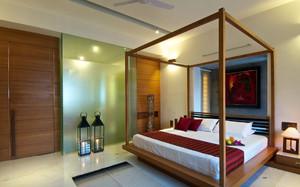 东南亚风格小户型卧室床头背景墙