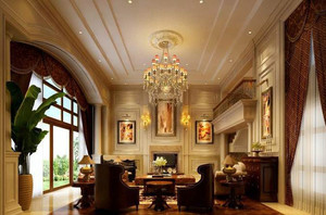 复古欧式风格别墅客厅装修效果图