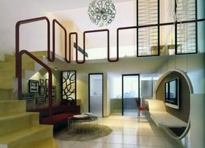 现代简约风格别墅客厅装修效果图