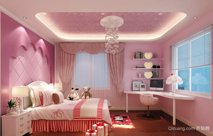 120平米欧式风格儿童房装修效果图