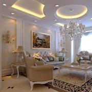 100平米欧式风格客厅隔断设计效果图赏析