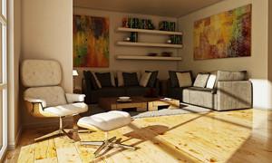 后现代风格小户型客厅装修效果图