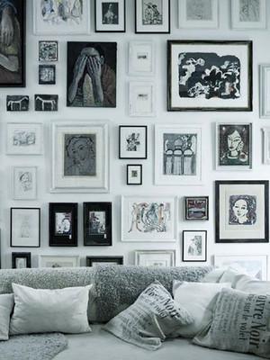 小户型后现代风格照片墙设计效果图