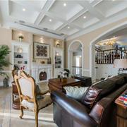 美式风格别墅客厅吊顶装修效果图赏析