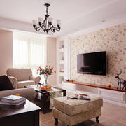 美式风格大户型客厅装修效果图