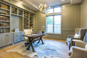 120平米美式风格书房装修效果图赏析