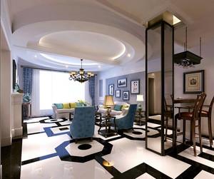 欧式风格大户型客厅吊顶装修效果图欣赏
