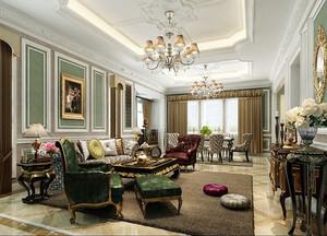 大户型欧式风格客厅装修效果图赏析