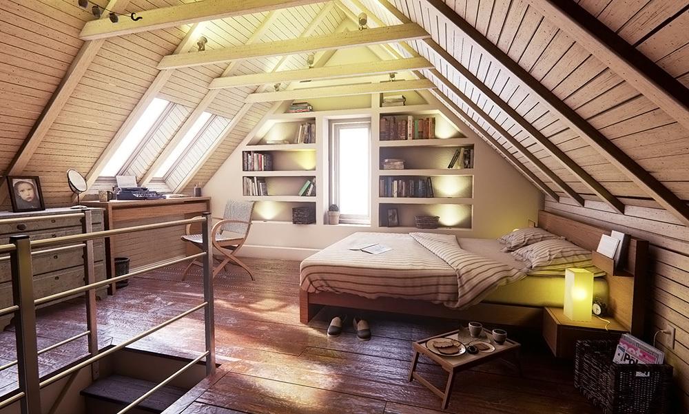 现代美式风格别墅阁楼装修效果图赏析图片