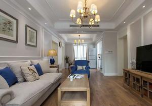 两室一厅地中海风格客厅吊灯装修效果图