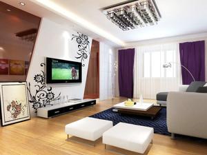 小户型都市简约风格客厅电视背景墙装修效果图