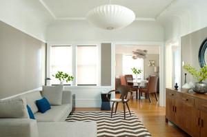 小户型宜家风格创意客厅吊灯装修效果图