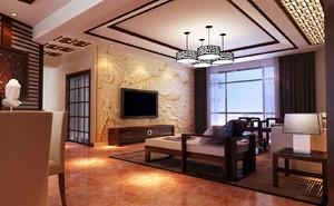 110平米中式风格客厅设计效果图