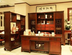 中式风格大户型书房装修效果图赏析