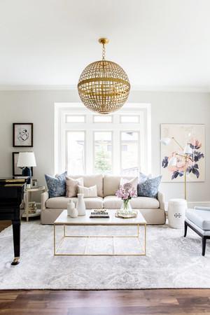 北欧风格小户型客厅创意吊灯设计效果图