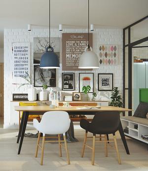 北欧风格90平米创意餐厅设计效果图