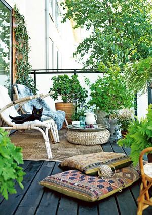大户型美式乡村风格阳台花园装修效果图