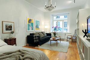 50平米现代简约风格单身公寓整体装修效果图赏析