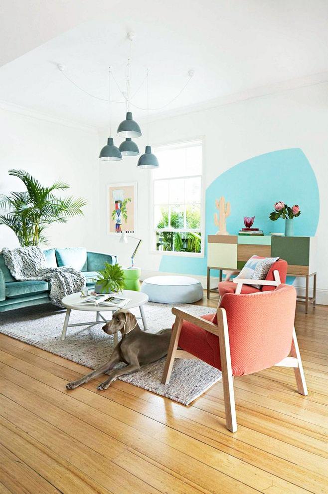 都市小清新风格小户型客厅设计效果图