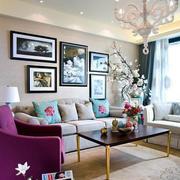 法式风格大户型客厅装修效果图