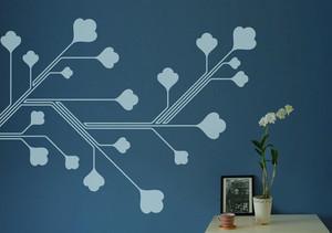 70平米现代风格创意墙贴设计效果图鉴赏