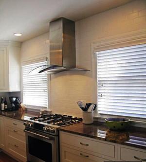 简欧风格大户型厨房直立抽烟机设计效果图鉴赏