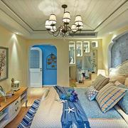 120平米地中海风格卧室装修效果图