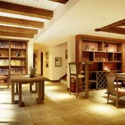 东南亚风格别墅书房装修效果图赏析