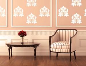 都市风格小户型客厅墙贴设计效果图