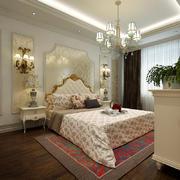 80平米欧式风格卧室吊灯效果图赏析