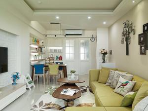 80平米小清新风格客厅装修效果图赏析