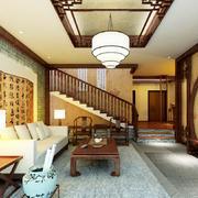 中式风格别墅客厅装修效果图赏析