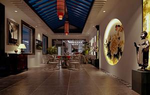 中式风格四合院别墅整体装修效果图鉴赏