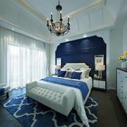 地中海风格三居室卧室装修效果图赏析