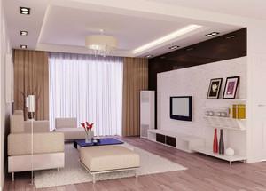 都市简约风格小户型客厅吊顶装修效果图赏析