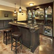 复古美式风格别墅酒柜设计效果图鉴赏