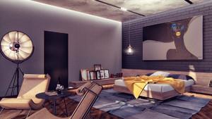 90平米后现代风格卧室装修效果图赏析