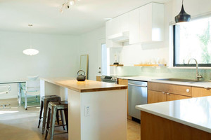 60平米简欧风格开放式厨房装修效果图