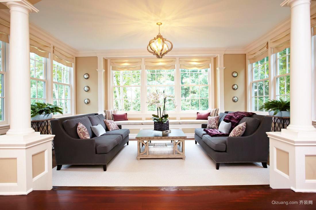 大户型简欧风格客厅沙发效果图鉴赏