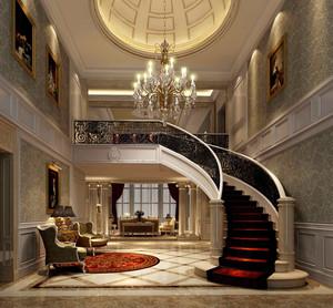 欧式风格复式楼楼梯设计效果图