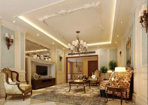 欧式风格大户型客厅吊顶装修效果图赏析