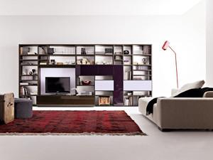 二居室现代风格客厅书柜设计效果图