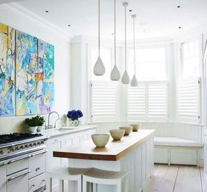 120平米现代风格厨房吧台设计效果图赏析