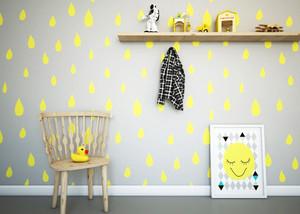 80平米现代风格儿童房墙纸设计效果图