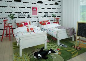 三居室现代风格儿童房墙纸设计效果图赏析