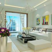 现代简约风格小户型客厅沙发背景墙装修效果图赏析