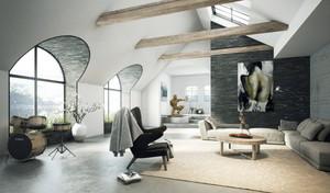 110平米现代风格客厅装修效果图赏析
