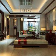 新中式风格大户型客厅装修效果图赏析